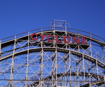 David Letterman: Coney Island Roller Coaster & Powerball Jackpot