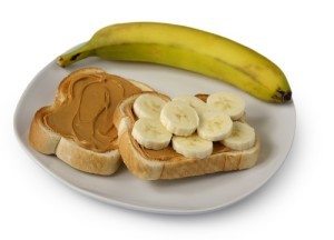 GMA: Emeril's Grilled Peanut Butter, Banana & Honey On English Muffins