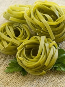 GMA Mario Batali Fettuccine with Pancetta & Asparagus & Spring Peas