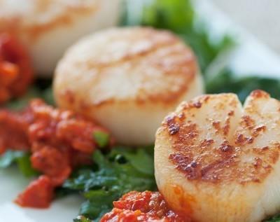 Stanley Tucci: Bistro Greens + Seared Scallops Recipe with Pea Puree
