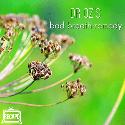 Dr Oz: Melissa Rivers Bad Habit & Dr Oz Red Carpet Bad Breath Remedy
