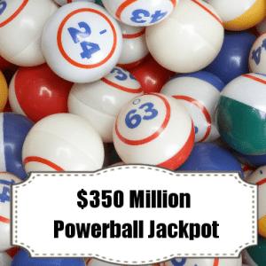 Live!: Powerball Jackpot $350 Million & Mark Laita Serpentine Review