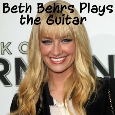 Beth Behrs guitar