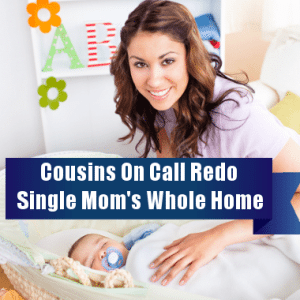 Ellen: Cousins on Call Makeover Single Mom's Master Suite & Nursery