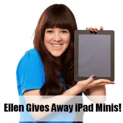 Ellen: iPad Mini, Backblaze Online Storage & Blendtec Margarita Maker