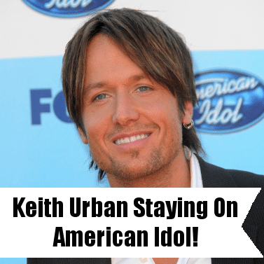 Ellen: Keith Urban Staying on American Idol & Little Bit of Everything