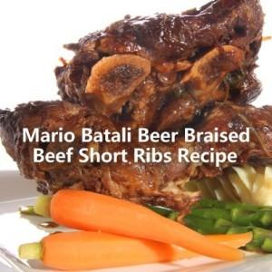 The Chew: Mario Batali Beer Braised Short Ribs & Michelada Recipe