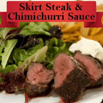 ... Michael Lomonaco's Skirt Steak Tortilla with Chimichurri Sauce Recipe