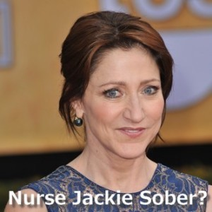 The Talk: Edie Falco, Nurse Jackie Sobriety & Brunette Hair Color
