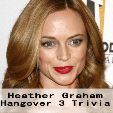 Live!: Heather Graham an Avid Poker Player & Hangover 3 Trivia Facts