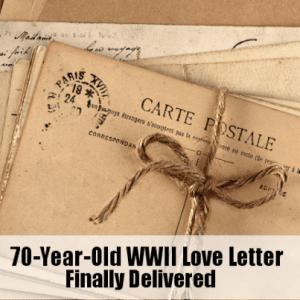 Kelly & Micahel: 70 Yeaar Old World War II Love Letter Delivered