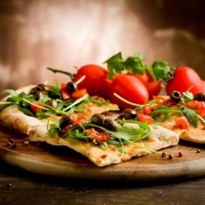 Rachael Ray: Chicken Caesar Stuffed Bread Pizza Recipe & Paula Deen
