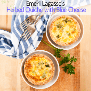 GMA: Emeril Lagasse's Herbed Quiche + Blue Cheese & Watermelon Limeade