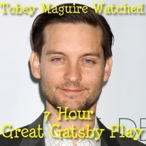 Live!: Tobey Maguire Gatz Review & Studying for The Great Gatsby Role
