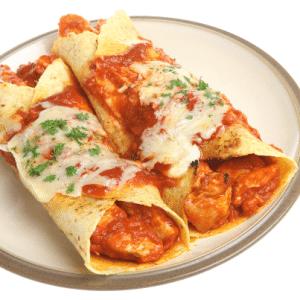 The Chew: Kim Kost's Asian Enchilada Recipe with Grilled Peach Salsa