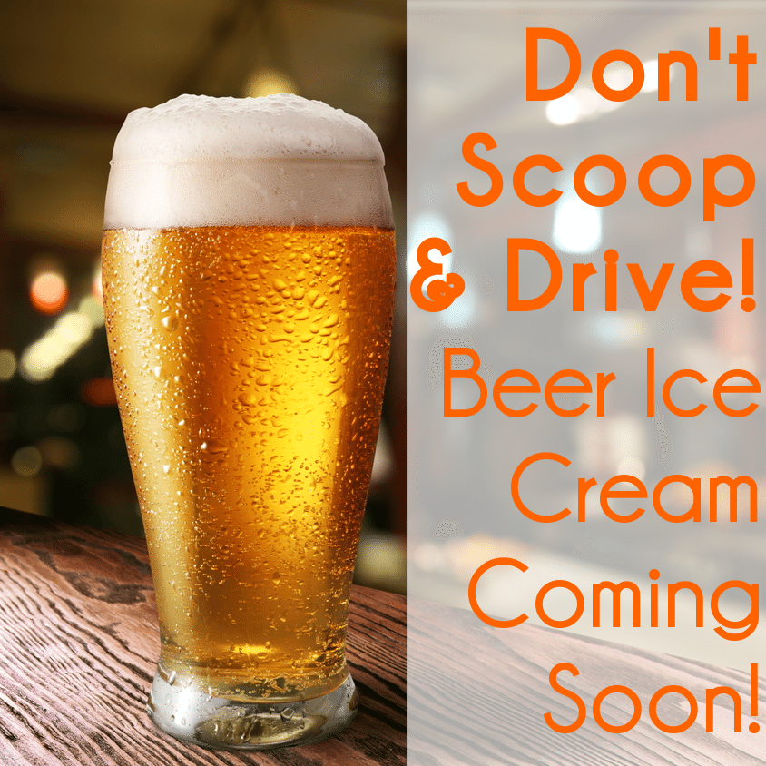 announced that a company has developed a beer flavored ice cream ...