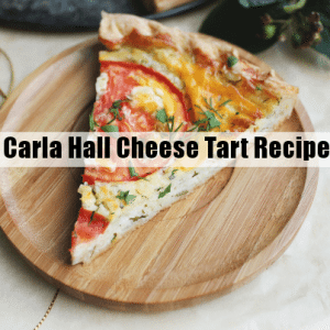 The Chew: Carla Hall Cheese Tart with Marinated Tomato Zucchini Recipe