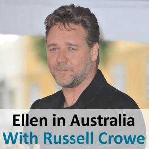 Ellen in Sydney Australia: Russell Crowe & Know or Go in Sydney Harbor
