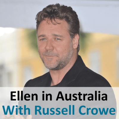 Ellen in Sydney Australia: Russell Crowe & Know or Go in Sydney Harbor