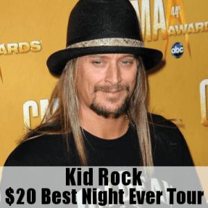 Kathie Lee & Hoda: Kid Rock $20 Best Night Ever Tour Tickets Cost $20
