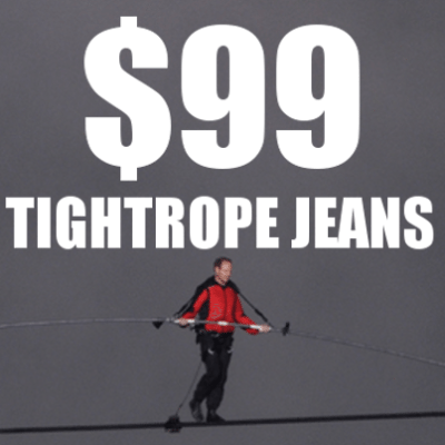 Nik Wallenda Tightrope Jeans: $99 Buffalo By David Bitton Review