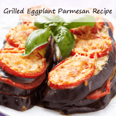 Mario Batali's Grilled Eggplant Parmesan Recipe & Almond Pesto