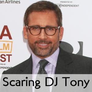 Ellen: Steve Carell Scares DJ Tony & Justin Flom Fire Magic Tricks