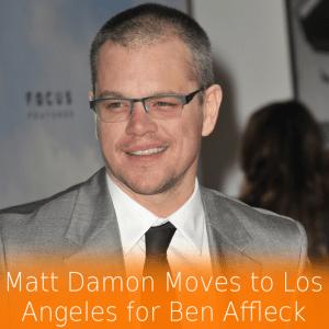 "Matt Damon Films Elysium in ""Poo River"" & Moving to LA for Ben Affleck"