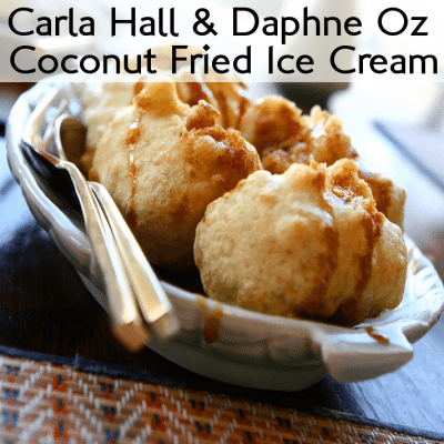 The Chew: Carla Hall Coconut Fried Ice Cream, Clinton Kelly Popcorn