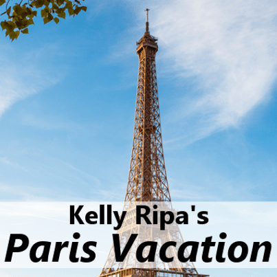 Kelly Ripa discussed her vacation to Paris and Michael Strahan shared