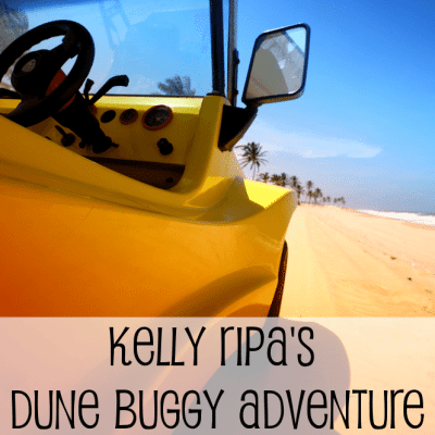 Kelly Ripa Dune Buggying in Mohab Desert & Michael Strahan Driving