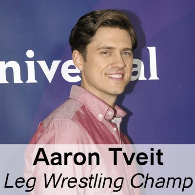Michael Strahan Leg Wrestles Aaron Tveit & Graceland True Story