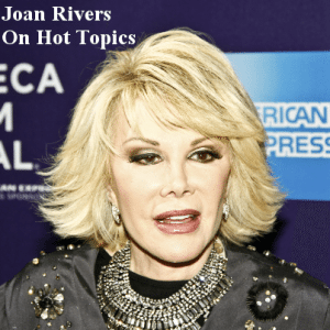 Legendary comedian Joan Rivers will come by The View today to talk about her new book Diary of a Mad Woman. (Sam Aronov / Shutterstock.com)