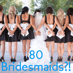 British Bride with 80 Bridesmaids & Elysium Space Burial $2,000