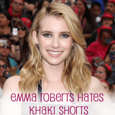 We're the Millers: Emma Roberts Hates Khaki Shorts & Loves Summer Camp