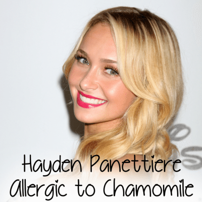 Hayden Panettiere Allergic Reaction to Chamomile Tea & Eye Patch
