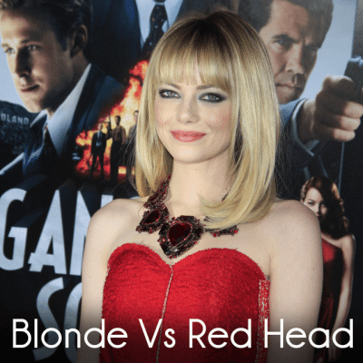 David Spade Brad Pitt Look-A-Like & Emma Stone Blonde Vs Red Head