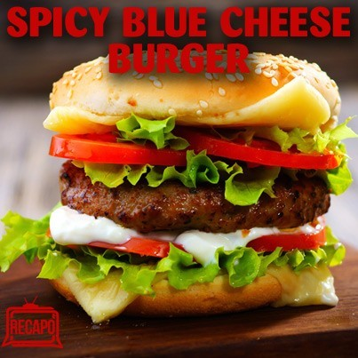 Rachael Ray: Spicy Burgers with Chunky Blue Cheese Aioli ...