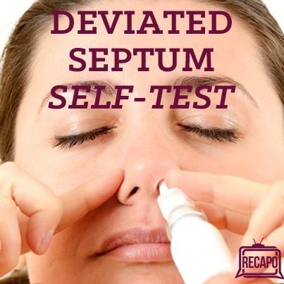 how to diagnose a deviated septum
