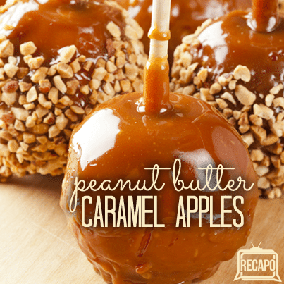 The Chew Carla Hall S Crispy Peanut Butter Caramel Apples Recipe