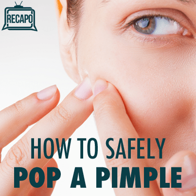 popping pimples safely