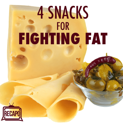 Dr Oz Belly Fat Snacks: Swiss Cheese, Avocado + Olives & Green Tea