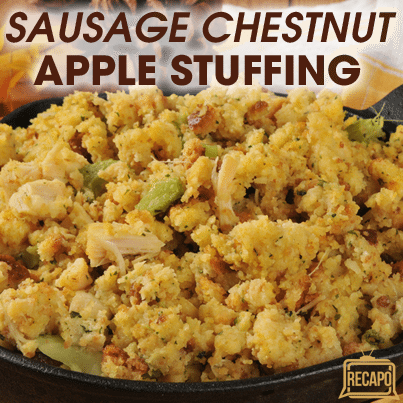 ... settings, and she taught him to make Sausage Chestnut Apple Stuffing