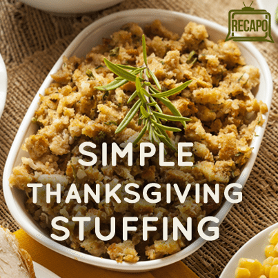 The Chew: Michael Symon Basic Moist Thanksgiving Stuffing Recipe