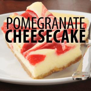 The Chew Chef Carla Hall S Pomegranate Swirl Cheesecake