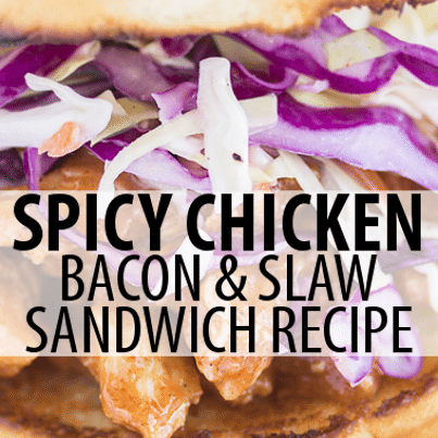 ... Spicy Chicken and Slaw Sandwich Recipe, using kettle cooked chips to