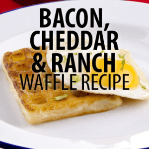 Rachael Ray: Savory Brunch Bacon, Cheddar and Ranch Waffle Recipe