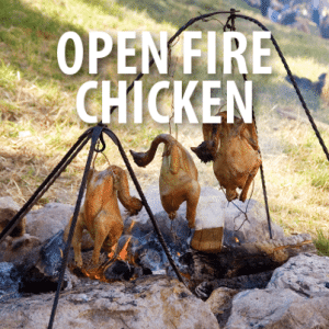 The Chew: Michael Symon Chicken on a String Recipe For a Fireplace