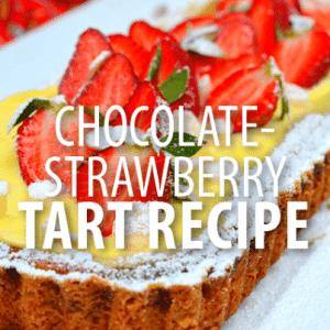 Chef Jacques Torres: The Chew Chocolate-Strawberry Tart Recipe
