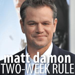 Kelly & Michael: Matt Damon The Monuments Men Review + Two-Week Rule
